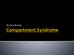 Compartment Syndrome - faculty at Chemeketa