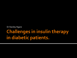 Overview of Insulin Therapy in Diabetes