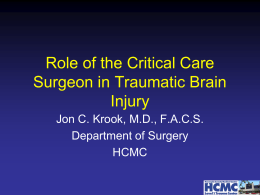 Critical Care Considerations in Acute Traumatic Brain Injury Patients