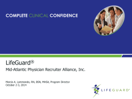 LifeGuard Physician Re entry