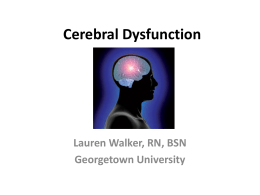 Cerebral Dysfunction - Georgetown University