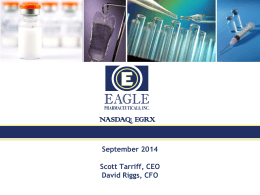 Eagle Pharmaceuticals Presentation