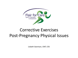 Corrective Exercises Post-pregnancy
