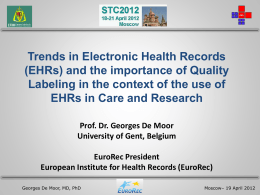 Trends in Electronic Health Records (EHRs)