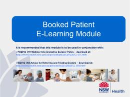 booking patients
