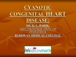 cyanotic congenital heart disease - MEDICINE hack