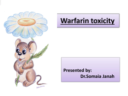 Follow))Presentations of warfarin toxicity