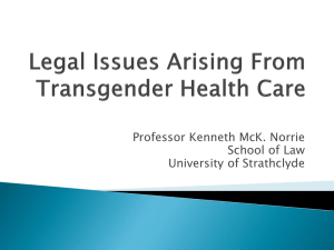 Kenneth Norrie – Trans Health Legal Issues