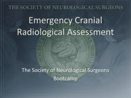 iii. Emergency Cranial Radiological Assessment