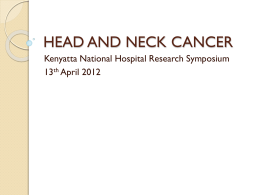 HEAD AND NECK CANCER - Kenyatta National Hospital