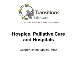 How Hospital and Hospice/Palliative Care Organizations