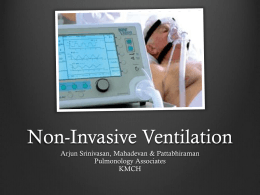 7. Non-Invasive Ventilation
