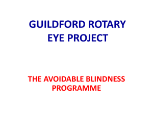 Guildford Rotary Eye Project Presentation