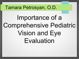 Pediatric Eye Exams: What you need to know