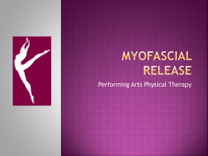 Myofascial Release - Performing Arts Physical Therapy