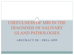 usefulness of mri in the diagnosis of salivary gland pathologies
