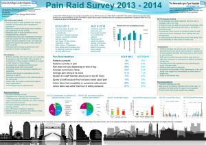 Pain Raid Survey 2013 - acutepainsymposium.co.uk