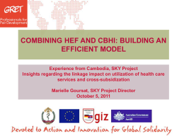 combining hef and cbhi - SKY Health Insurance Impact Evaluation