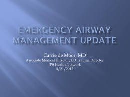 Emergency Airway management update