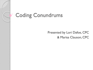 June 12, 2014 Coding Conundrums