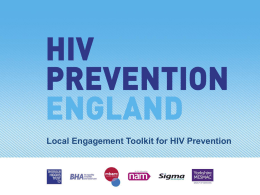 Why Is Local HIV Prevention Important? (continued)