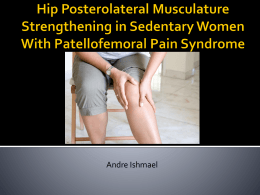 Hip Posterolateral Musculature Strengthening in