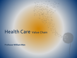 Health Care Value Chain