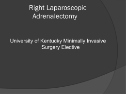 Right Laparoscopic Adrenalectomy