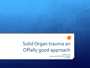 Solid Organ trauma an Offally good approach