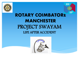 Project Swayam - Rotary Club of Coimbatore Manchester