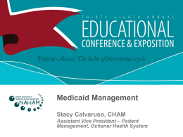Medicaid Management - ProActive approaches to the