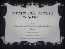 After the Thrill is Gone - The Chadwick Center for Children & Families