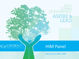 HIMs In Action - 2014 chima conference