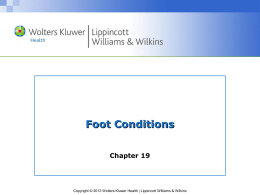 Chapter 19-Foot Injuries