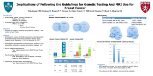 Implications of Following the Guidelines for Genetic Testing And MRI