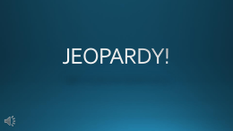 Jeopardy! Game Tool - Washington State Hospital Association