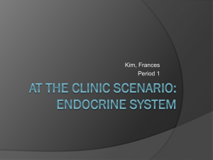 At the Clinic Scenario: Endocrine System
