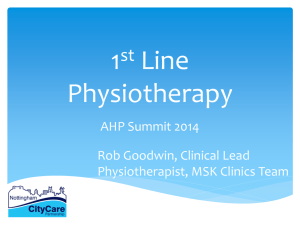 6 1st Line Physiotherapy – Rob Goodwin