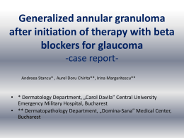 Generalized annular granuloma after initiation of therapy