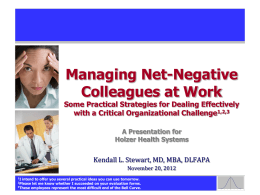Managing Net-Negative Employees