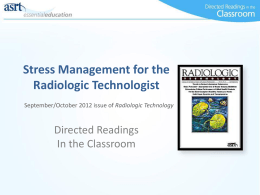 Stress Management - American Society of Radiologic Technologists