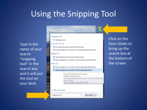 Using the Snipping Tool