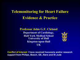 Telemonitoring for Heart Failure Evidence
