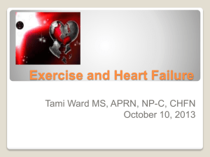 Exercise and Heart Failure