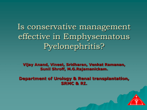 Conservative management of emphysematous
