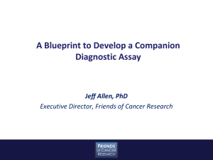 A Blueprint to Develop a Companion Diagnostic Assay, Jeff Allen, PhD
