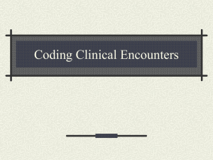 Presentation on How to Code Clinical BH Encounters in Primary Care