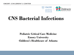 2011 CNS Bacterial Infection - Emory University Department of