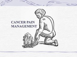 Cancer pain management - Yorkshire and the Humber Deanery