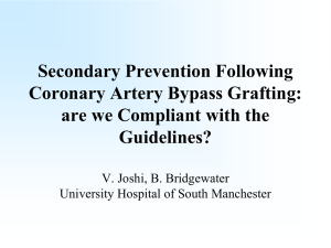 Secondary Prevention - Society for Cardiothoracic Surgery